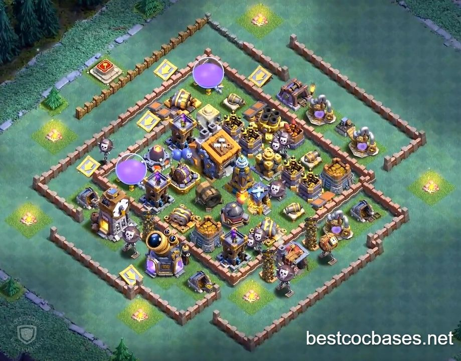 Pin By Best Clash Of Clans Bases Bu On Builder Hall 9 Base Layouts In 2020 Layout Builder Best