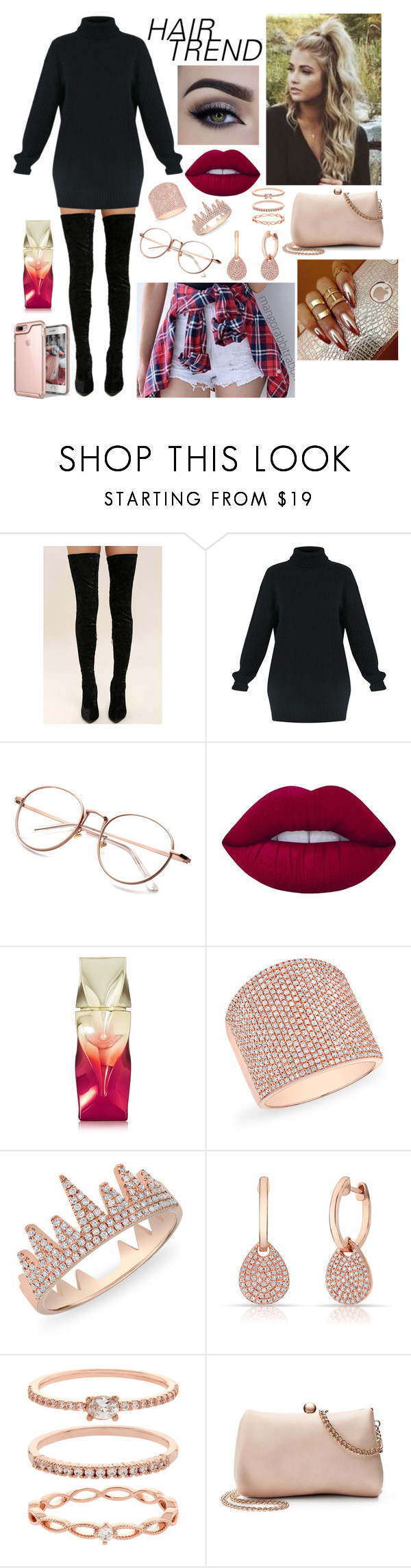 """""""Beauty"""" by duygumalik ❤ liked on Polyvore featuring beauty, Cape Robbin, Lime Crime, Christian Louboutin, Anne Sisteron, Accessorize, LC Lauren Conrad, hairtrend and rainbowhair"""
