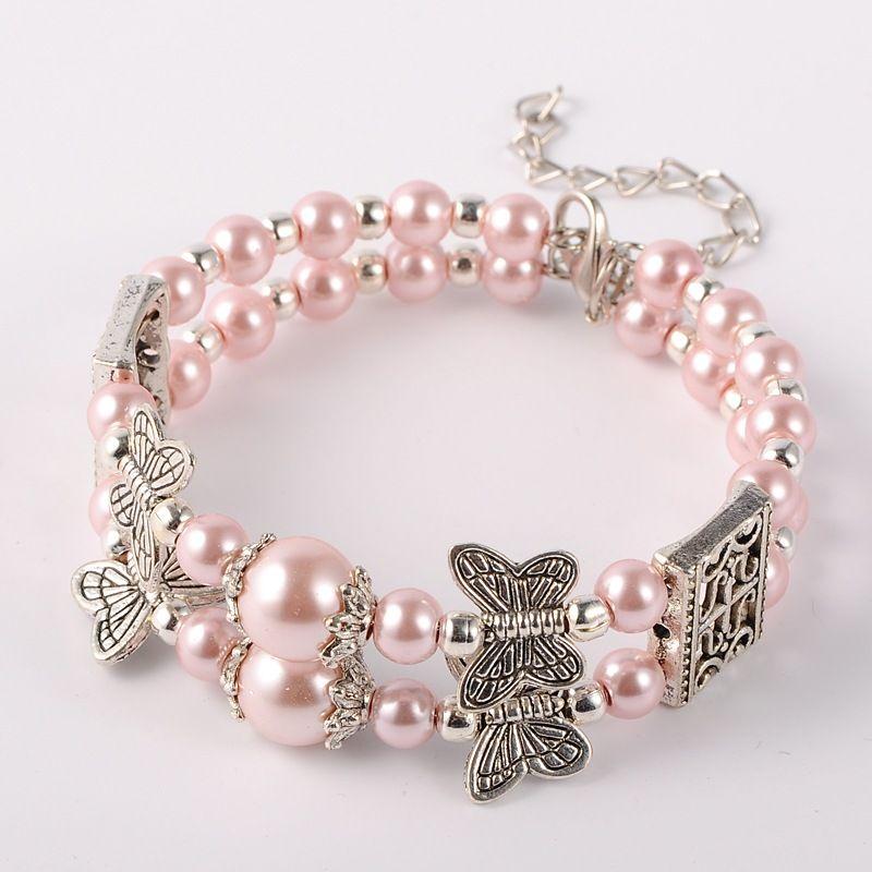 Good Bijou A La Mode #14: Perles De Verre à La Mode Des Bracelets Multi-brins, Avec Les Accessoires De