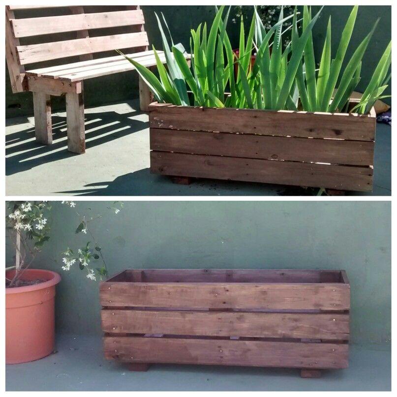 Cantero de madera de pallet front porch back yard for Muebles cantero