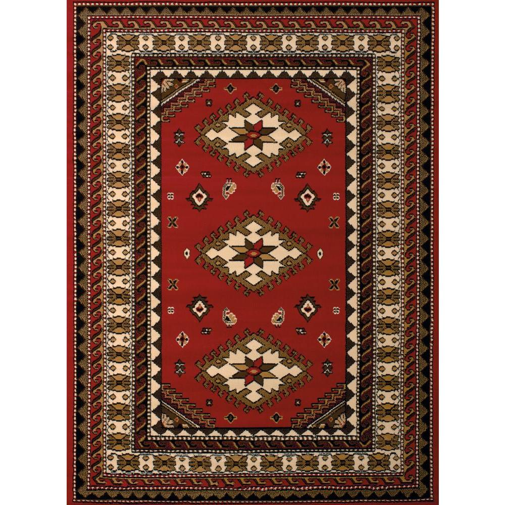 United Weavers Dallas Tres Red 8 Ft X 11 Ft Indoor Area Rug 851