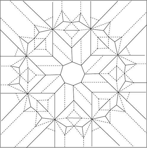 Octagonal Star Twist Draft Crease Pattern (With Images) Origami