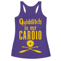 Quidditch Is My Cardio Racerback