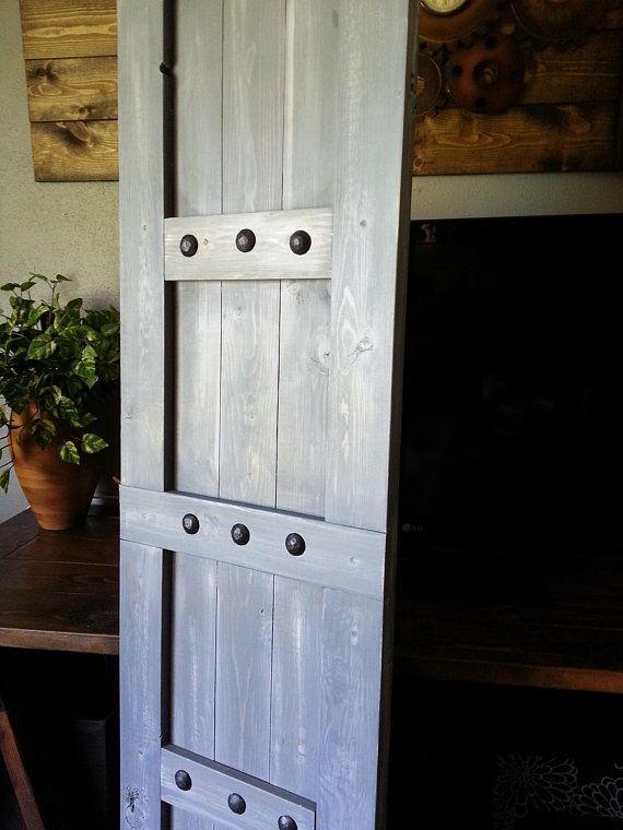 Interior Window Barn Shutters   Sliding Shutters   Barn Door Shutter  Hardware Packages Available   Farmhouse Style   Rustic Wood Shutter   Barn  Doors, ...
