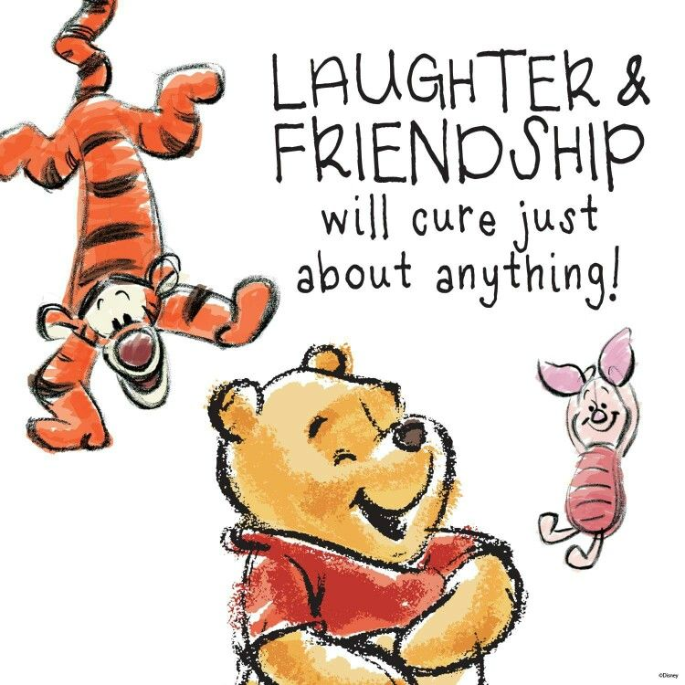 Laughter & friendship.. | Winnie the pooh quotes, Pooh quotes ...