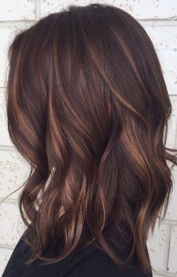 Idée Tendance Coupe \u0026 Coiffure Femme 2017/ 2018  Gorgeous brunette color.