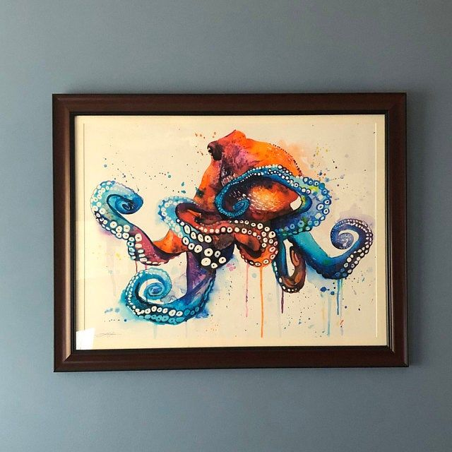 Clownfish Ameonefish aquarelle peinture de peinture par   Etsy