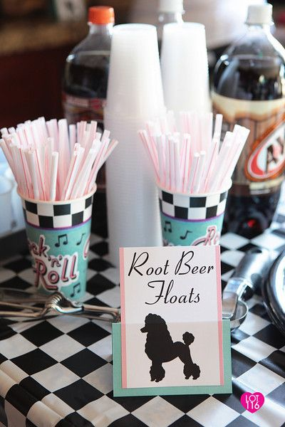 83d3ab9c6cf4f Fifties Sock Hop food labels-lots of great decorating and party ideas here!