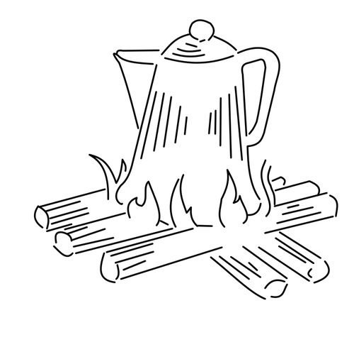 camp fire - embroidery pattern