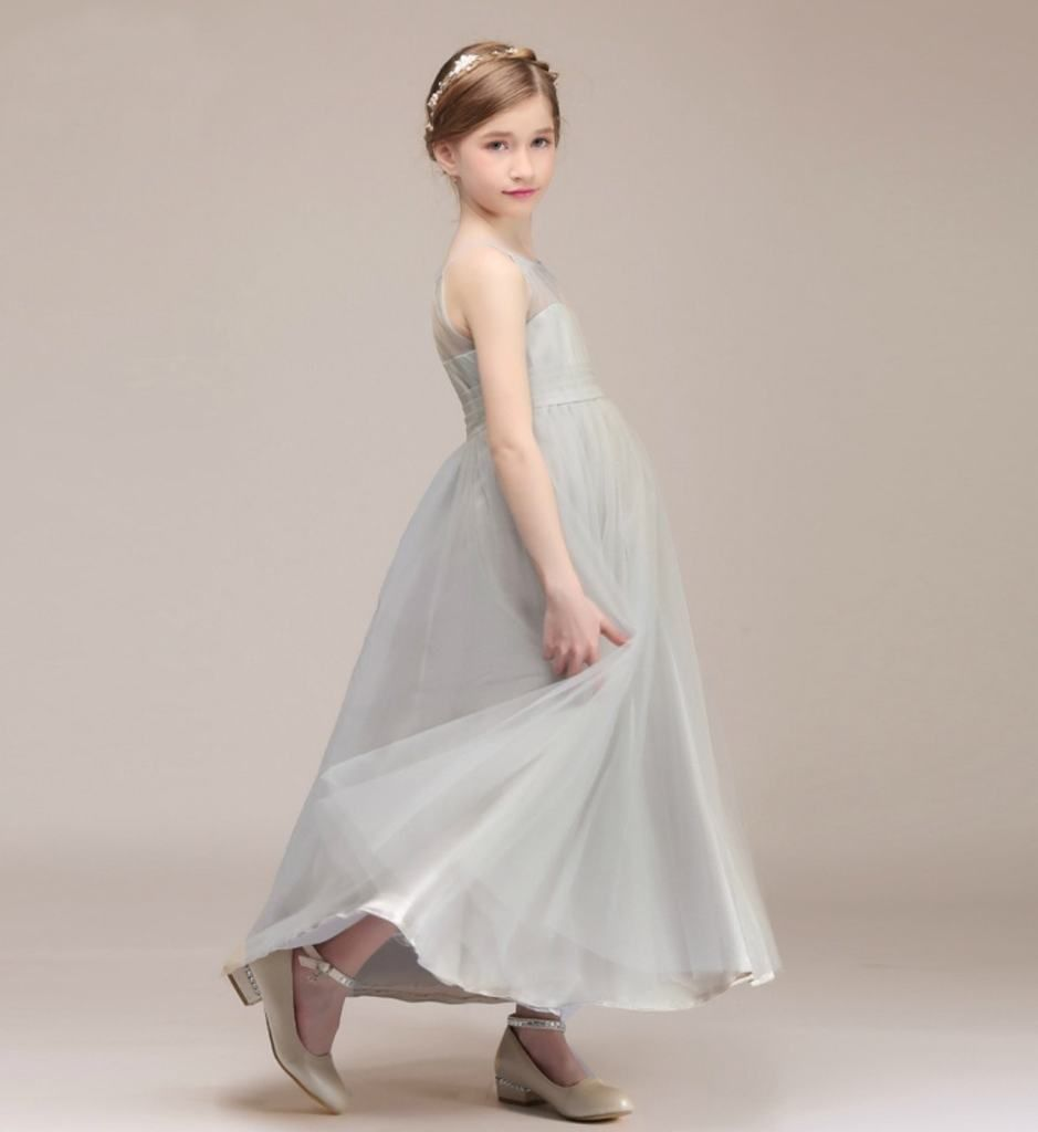 Simple round neckline dress girls tutu dresses tutu dresses and