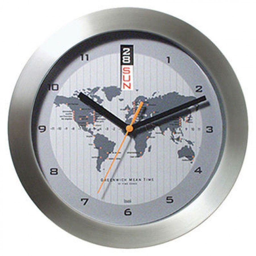 Bai design gmt wall clock with world map 784 home bai design gmt wall clock with world map 784 gumiabroncs Choice Image