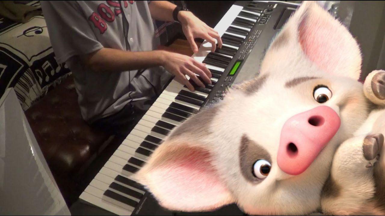 Moana - How Far I'll Go (Piano Solo) - YouTube