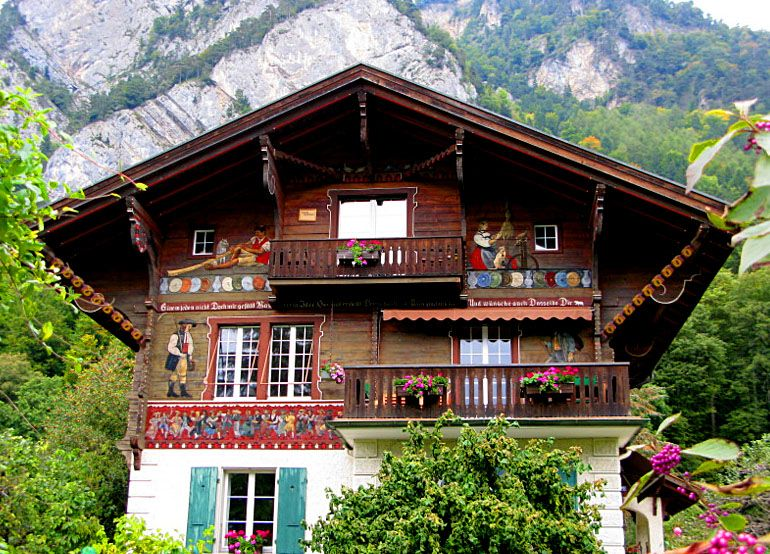 Storybook swiss chalet love the exterior painting for Swiss homes