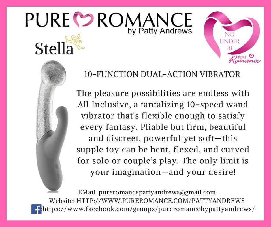 Pure Romance Stella is a dual action vibrator and you will leave you  breathless #pureromance #pure #romance #stella #vibator #adultsonly ...