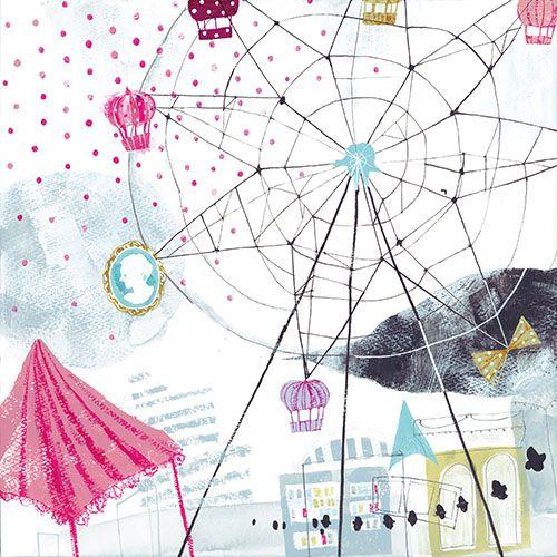 Pin By Yurika Yokoyama On Loftworkcom 観覧車 イラスト 観覧車