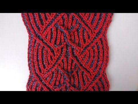 Center cable two-color brioche stitch pattern + free emedded chart ...