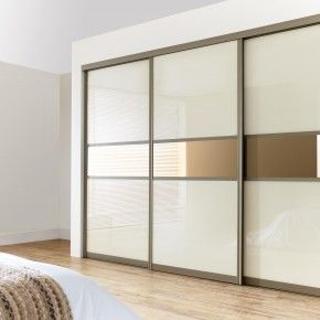 Furniture Storage. Enchanting Three Sliding White Gloss Acrylic Wardrobe  Closet Door With Built In Cabinet