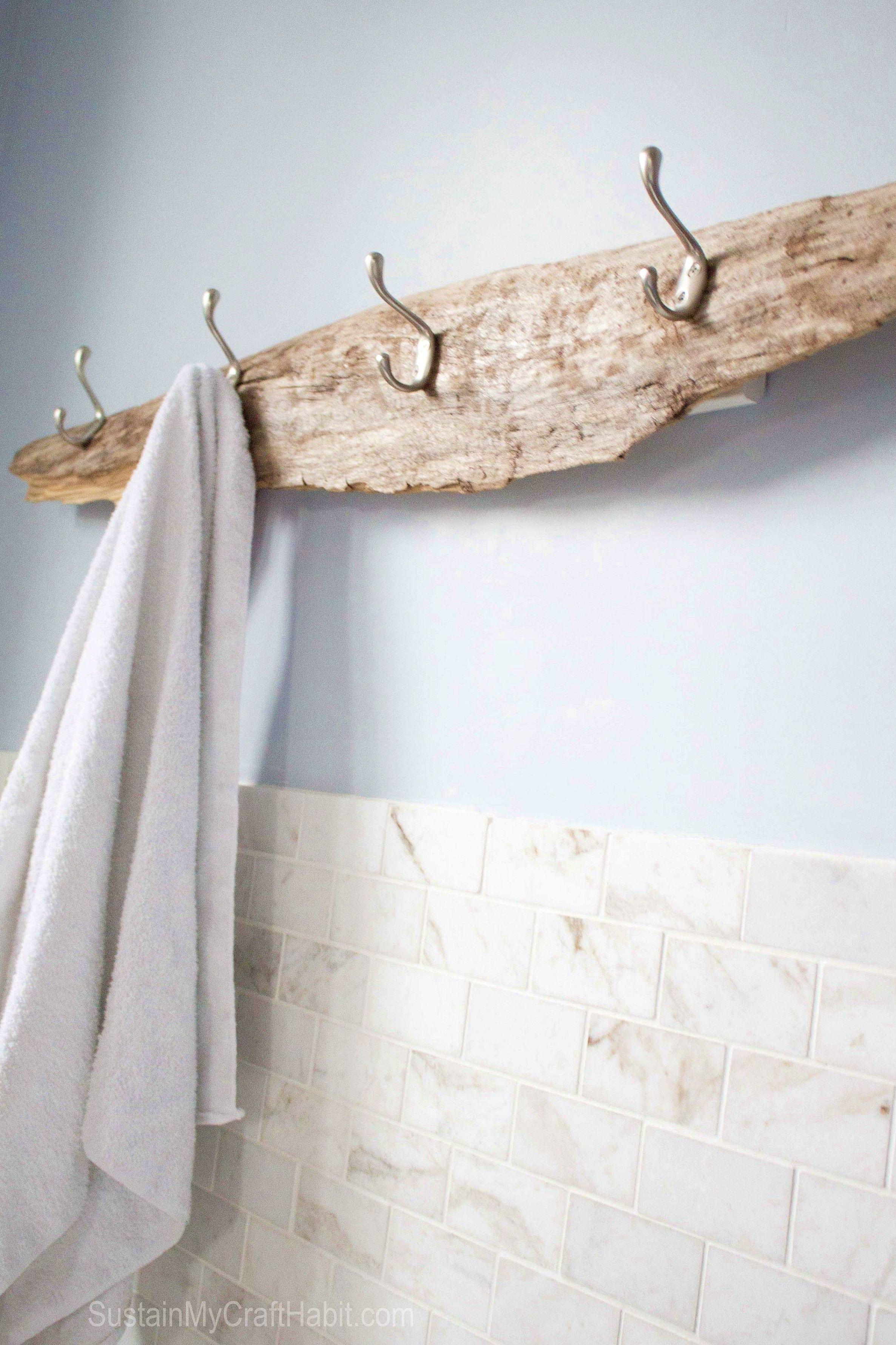 Great Bathroom Decor And Design Driftwood Diy Diy Towel Rack Diy Towels