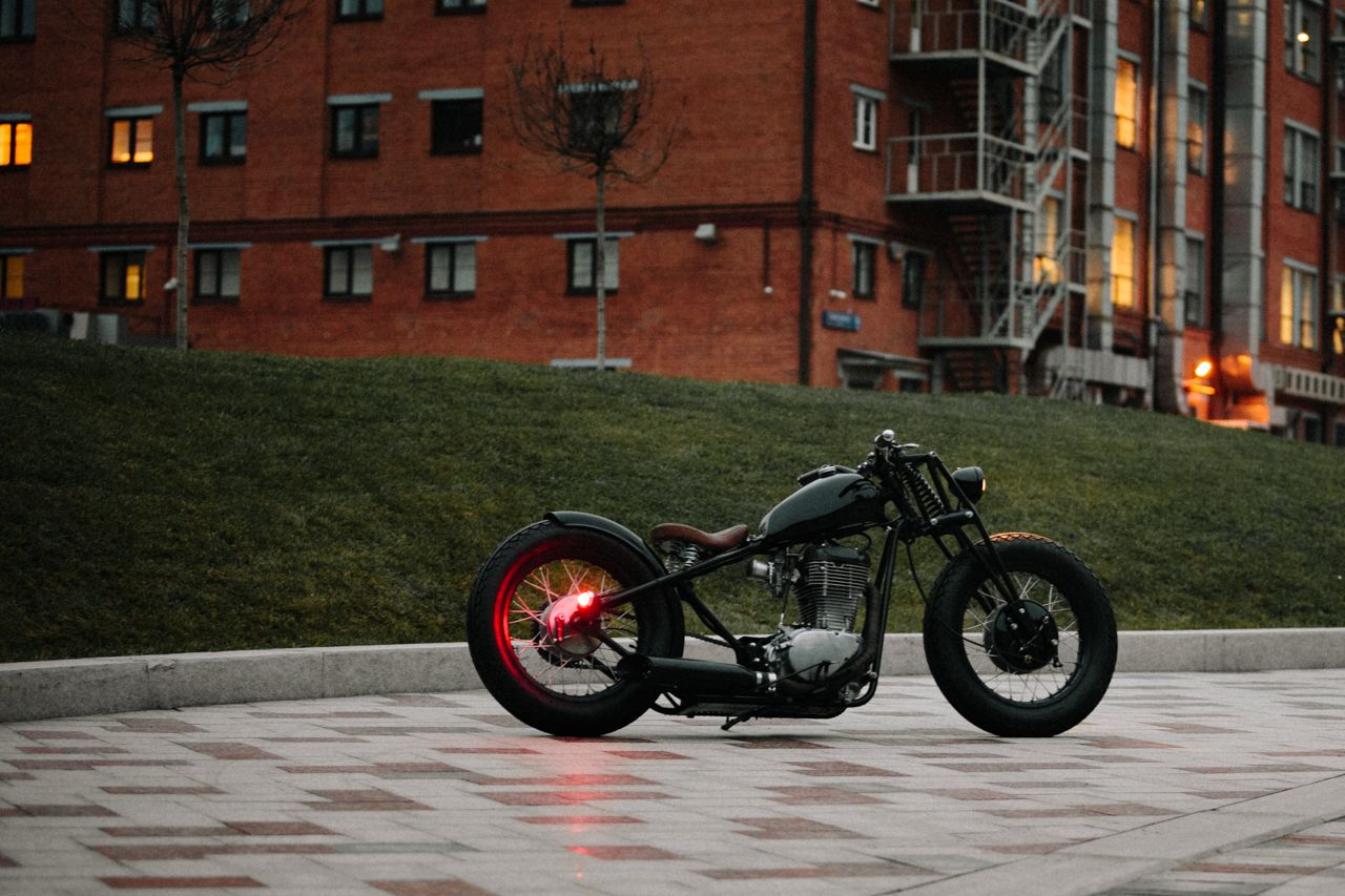 "Suzuki LS650 Savage ""O/2"" by 53 Fast Living . It is Moscow garage.   Photo by  Reckless Wolverines"