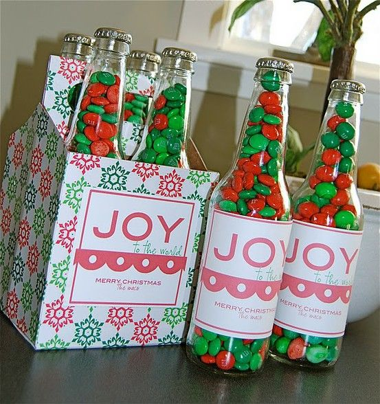 Homemade Christmas Party Favors Ideas Part - 40: Would Be Cool To Bring To Party, With Different Treats In Each Bottle. Jones