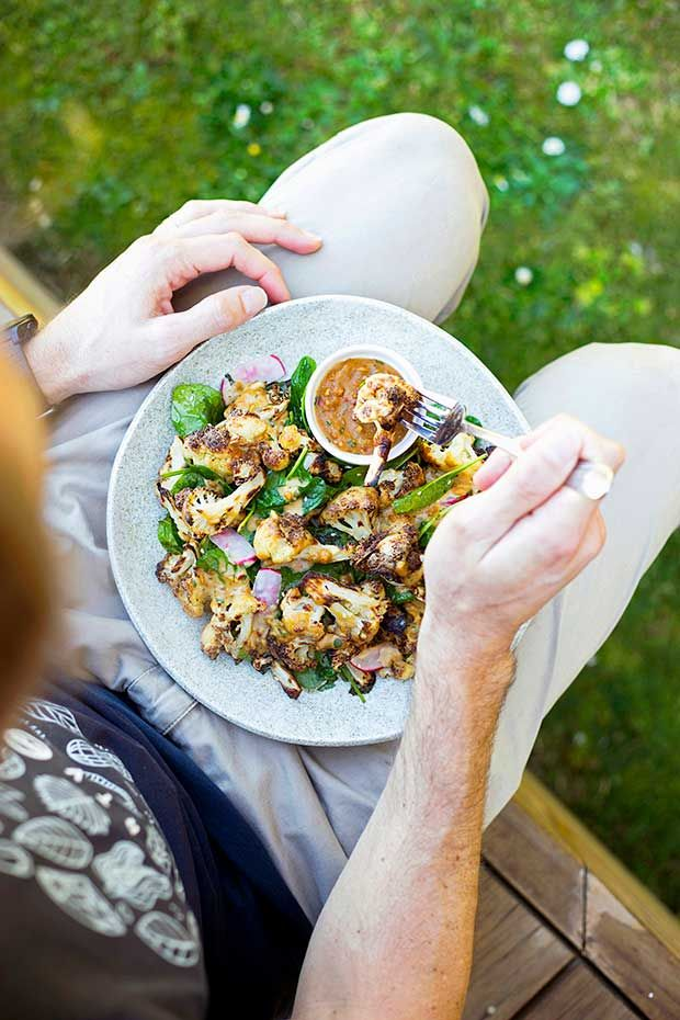 Recipe Forty Thieves Crispy Cauliflower Salad With Satay Dipping