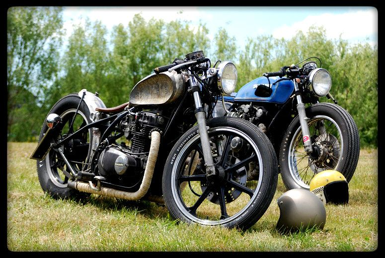 kz440 bobber and GS550 | bikes | Bobber, Motorbikes, Bike