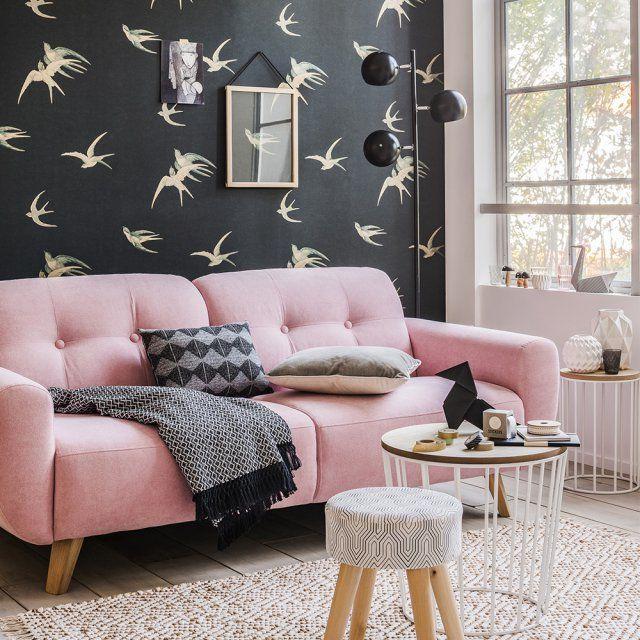 Un Canapé Tendance Pour Moins De Euros Canapé Rose Rose - Canapé 3 places pour objet deco chambre bebe