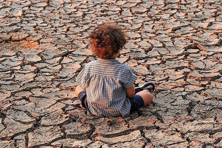 Image result for heat and drought and children