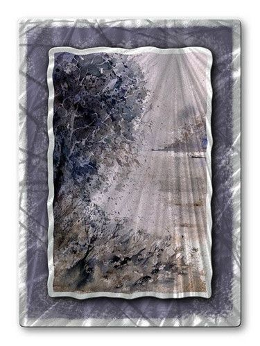 Dreary Scene Metal Wall Art Hanging