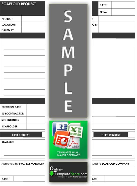 Scaffold request form Project Management Templates Pinterest - management review template
