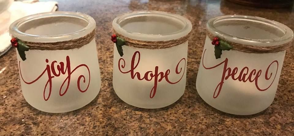 Repurposed Oui Yogurt Jars Christmas Crafts With Glass Jars