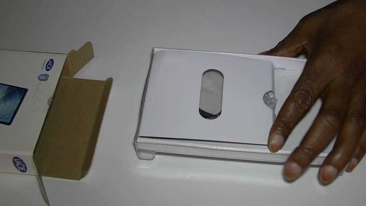 LACIE 1TB Porsche Design Mobile Drive Unboxing