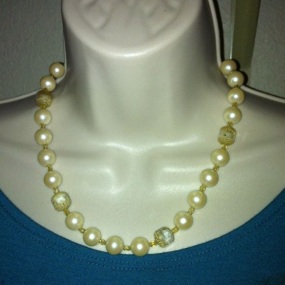 Vintage glass beaded necklace Hand made absolutely stunning.....  Very old. Glass beaded necklace.... Jewelry Necklaces