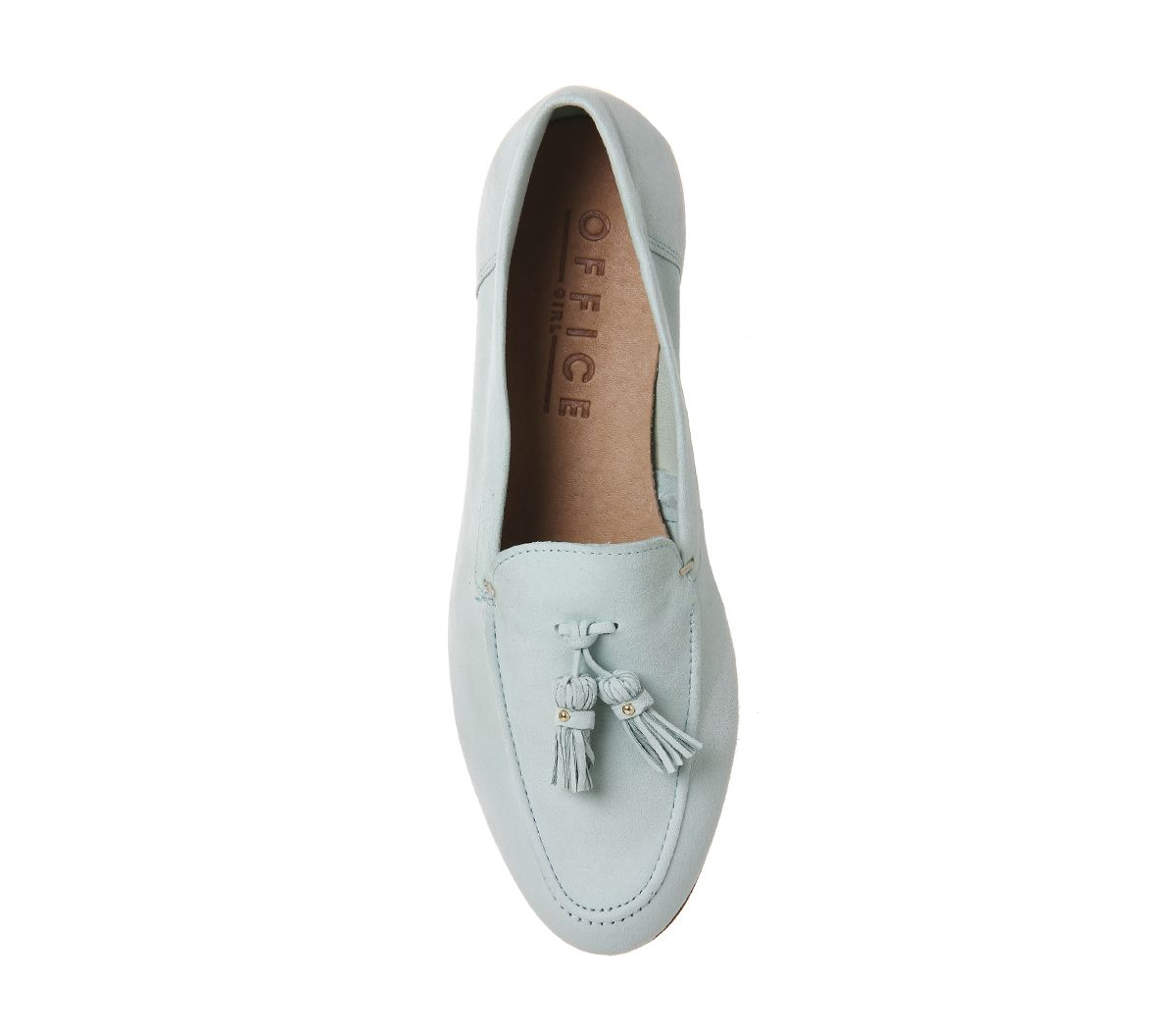 e62a72f0f77 Buy Mint Suede Office Retro Tassel Loafers from OFFICE.co.uk ...