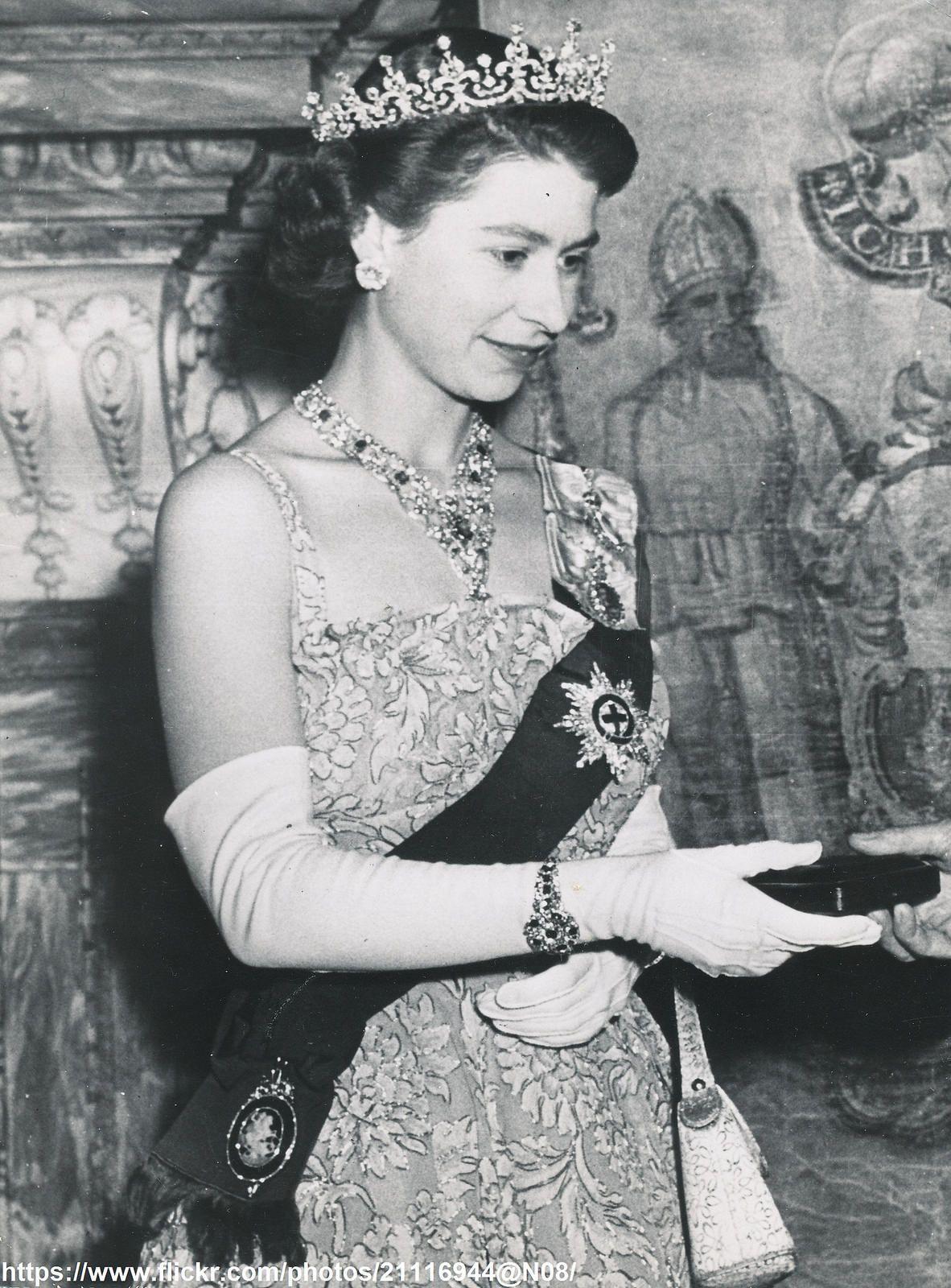May 27 1953. Young Queen Elizabeth. Young queen