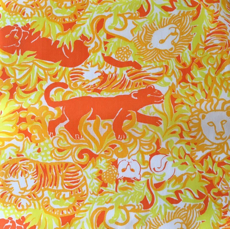 """11 1960's-1970's Key West Hand Print Fabrics, Inc. 9"""" wild cats fabric squares tigers panthers lions cheetahs by LuLuBunnyHome on Etsy"""