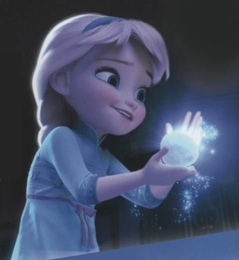 Little Elsa from Frozen. -- Just saw this movie yesterday. It was so cute. :)