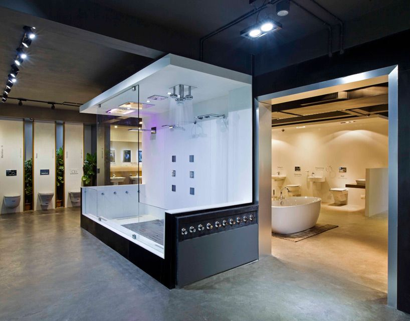 Nude emporio design 6 provocative modern architecture for Bathroom showrooms