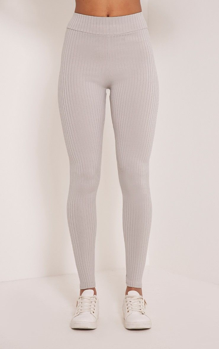 Grey High Waisted Leggings - Trendy Clothes