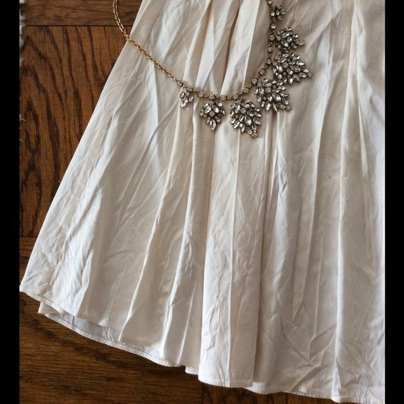 """Calypso Raw Ivory Silk Pleated Knee Length Skirt S Great condition. Marked a medium but fits like a small (26-27"""" waist). Gorgeous ivory silk. Unlined. Calypso St. Barth Skirts A-Line or Full"""