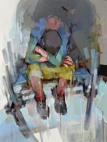 """! A Palette Knife...Oil on canvas  """" Inner traveler"""""""