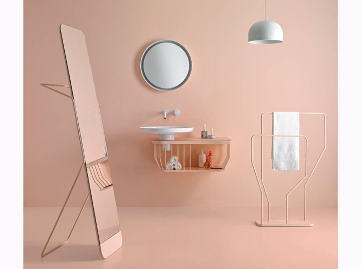 meuble salle de bain couleur poudre