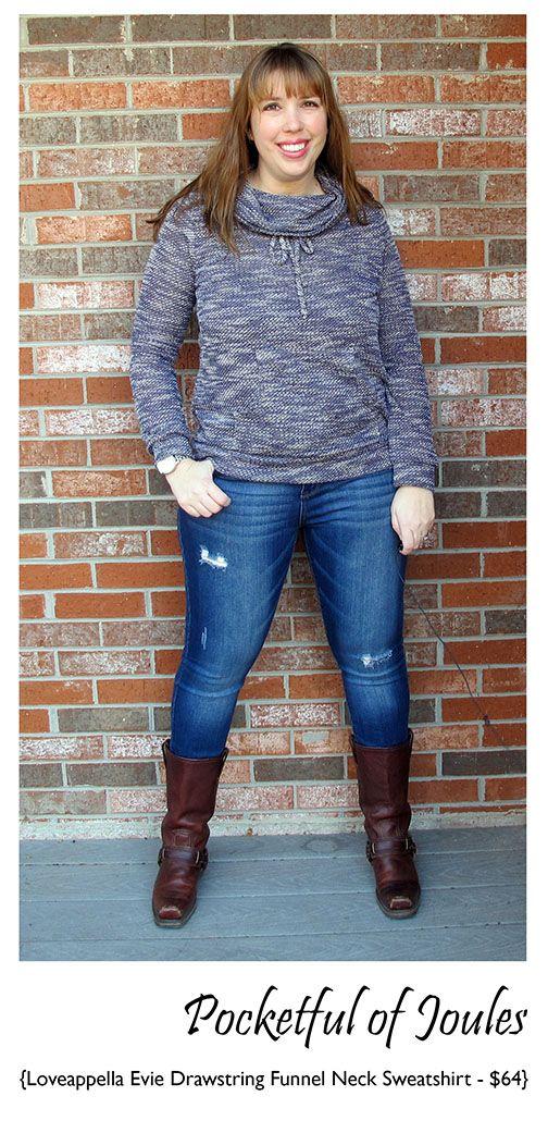 12f0308e9 Loveappella Evie Drawstring Funnel Neck Sweatshirt - Stitch Fix ...