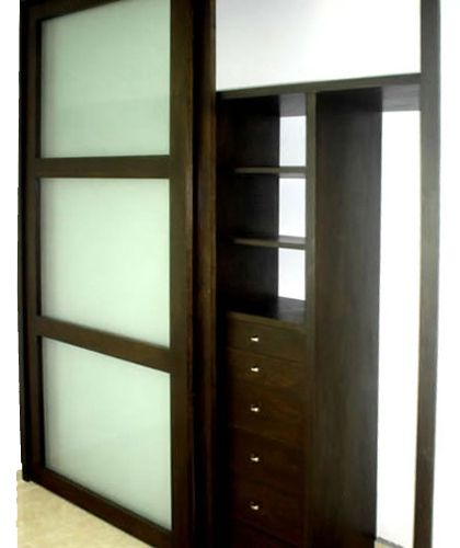 closet puertas corredizas con cristal closet pinterest
