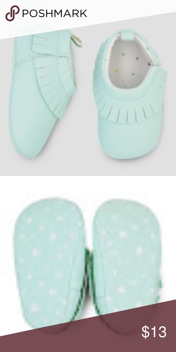 Target Baby Tiffany Blue Moccasin Shoes