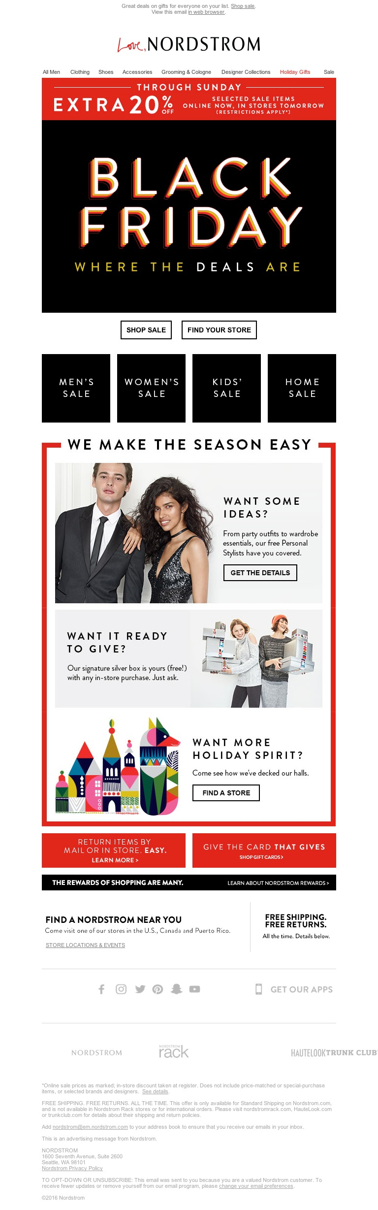 Nordstrom It S Black Friday Extra 20 Off Selected Sale Items Black Friday Sale Items