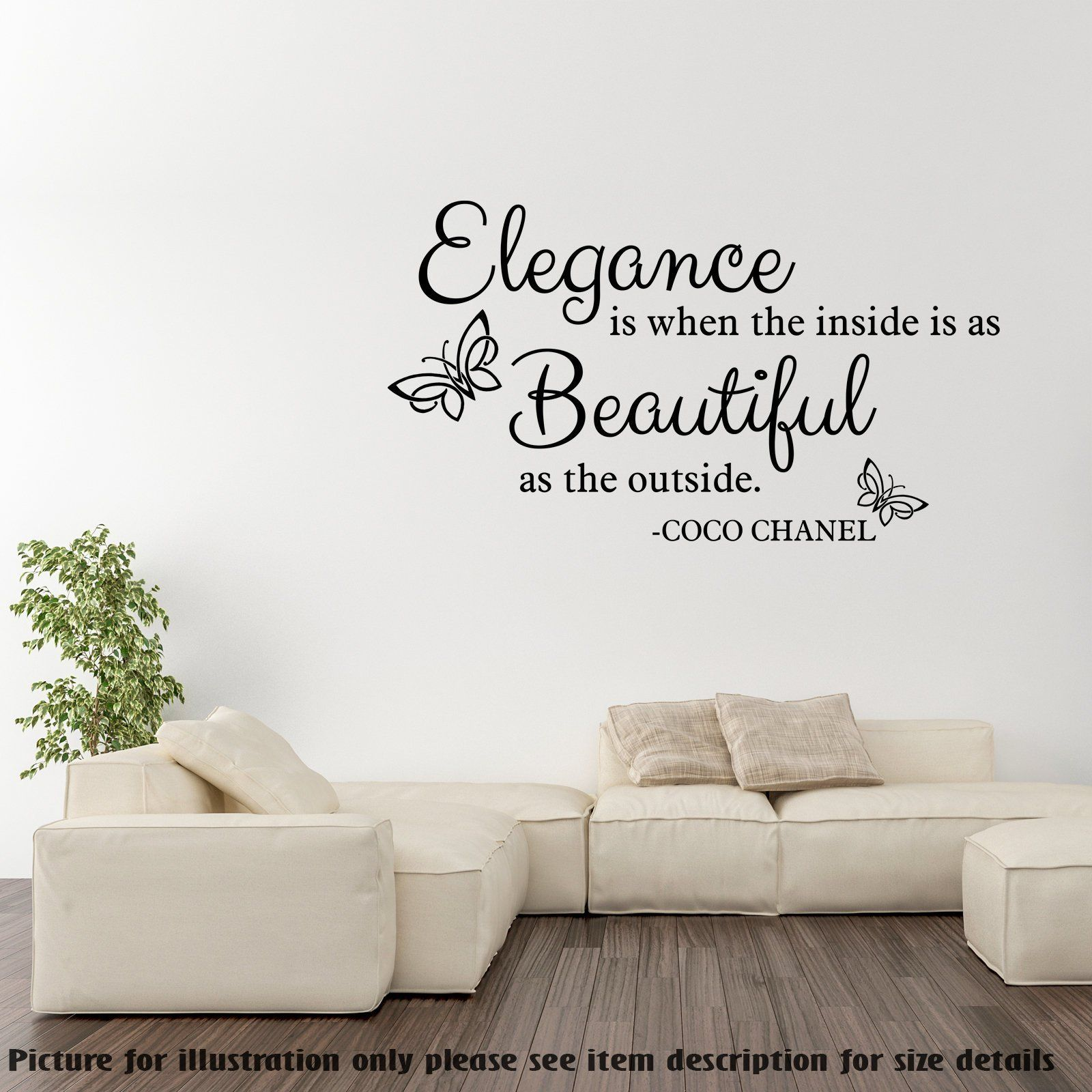 Elegance is when the inside is as beautiful as the outside coco chanel quotes