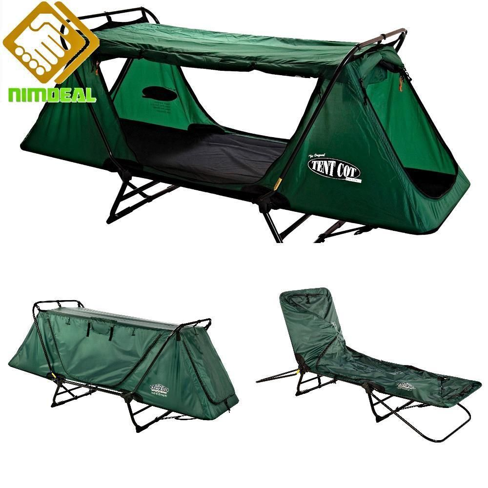 Folding Sleeping Chair Camping Cot Tent Folding Sleeping Bed Convert Flat Cot Lounge