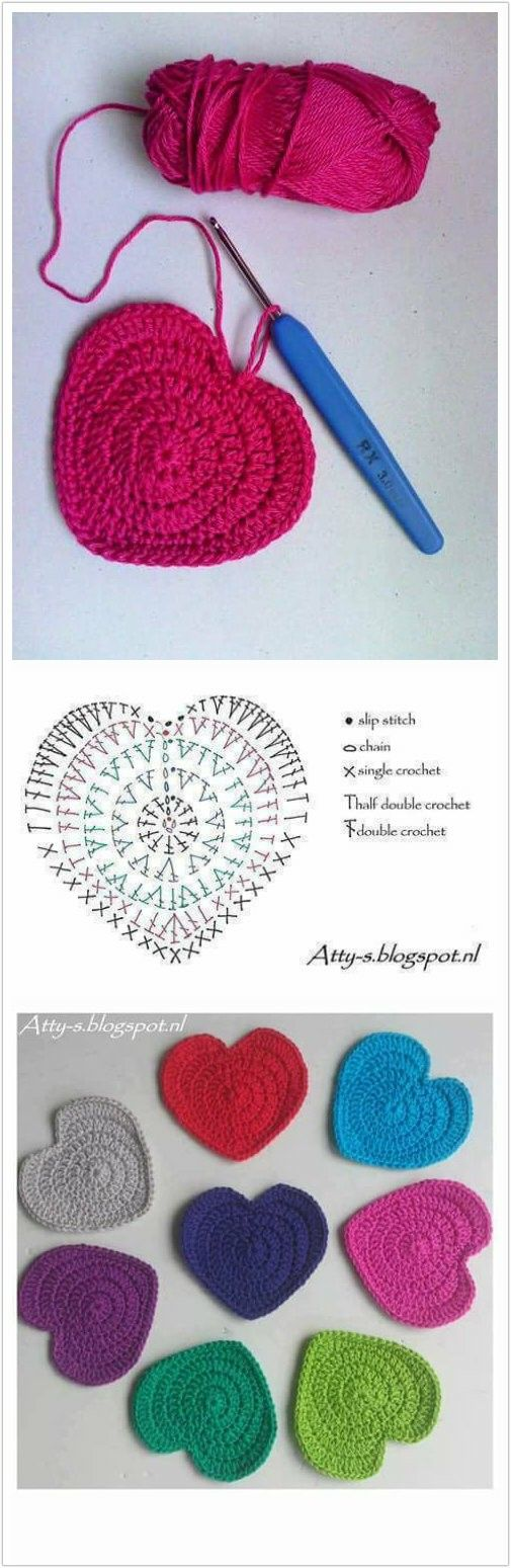 Corazon | Crochet | Pinterest | Ganchillo, Tejido y Patrones