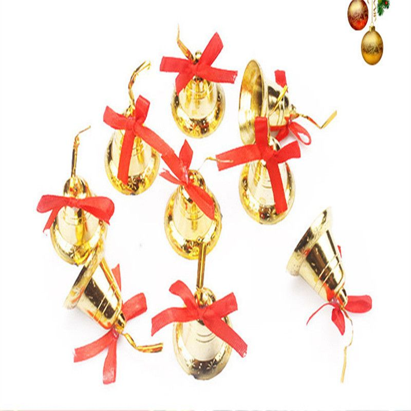 New 2016 Christmas decoration 3cm Fashion small Jingle Bell Gold
